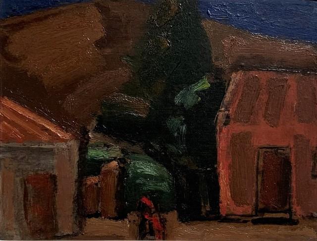 Josef Herman RA, 'Mountain Village', Unknown, Painting, Oil on board, Flowers