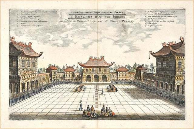 Pieter Van Der Aa, 'The Chinese Imperial Palace ', Early 18th Century, Wallector