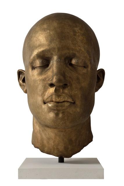 James Mathison, 'Cabeza Ojos Cerrados I Texto', 2014, Galería RGR