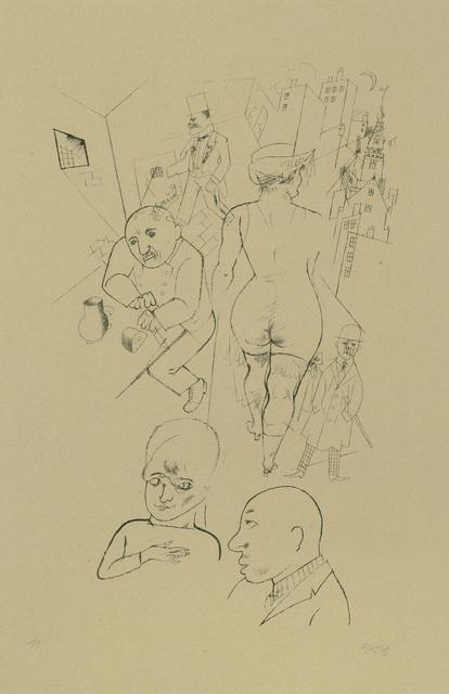 , 'Tragikgrotesken des Wieland Herzfelde,' 1919, Charles Nodrum Gallery