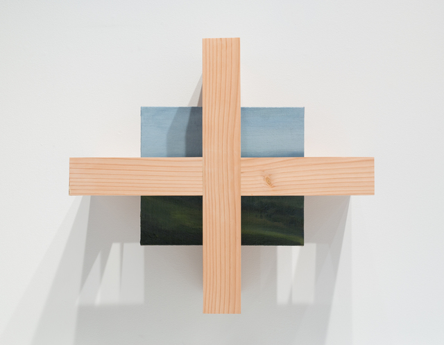 Mike Womack, 'Landscape Painting 4 (Truss)', 2018, Sculpture, Oil on linen with wood, David B. Smith Gallery