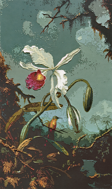 , 'White Brazilian Orchid, after Martin Johnson Heade,' 2010, galerie nichido / nca | nichido contemporary art