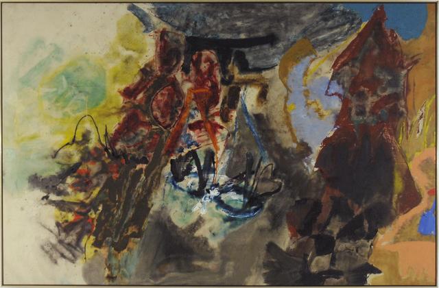 Friedel Dzubas, 'Over the Hill', 1957, Loretta Howard Gallery