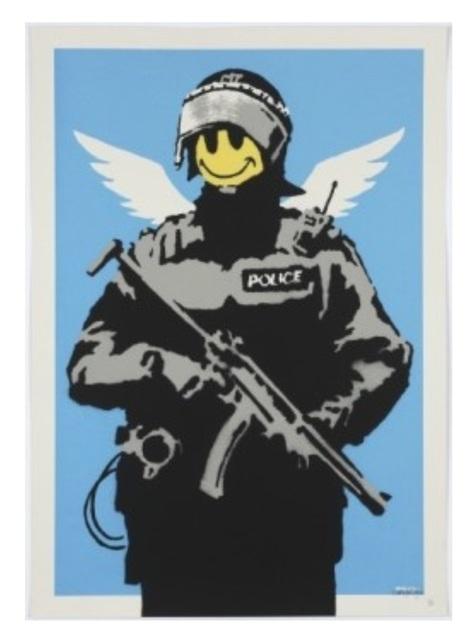 Banksy, 'Flying Copper', 2004, SmithDavidson Gallery