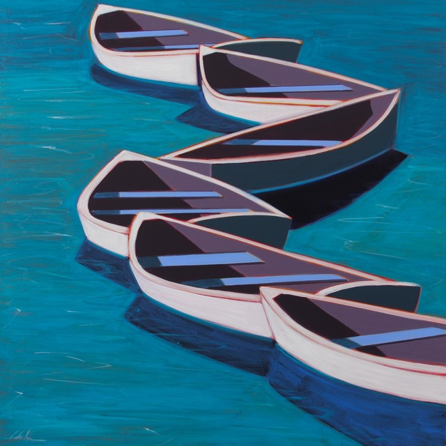 , 'White Row Boats,' 2017, Caldwell Snyder Gallery