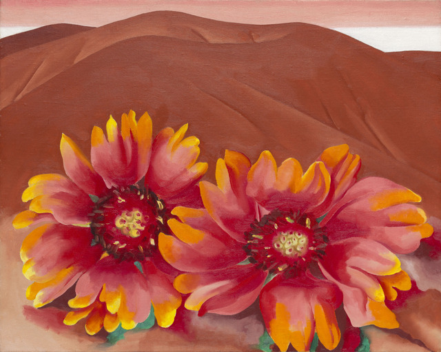 Georgia O'Keeffe, 'Red Hills with Flowers', 1937, Art Institute of Chicago