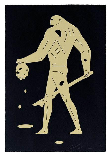 Cleon Peterson, 'Headless Man (Black & Gold) ', 2019, Saguaro Gallery