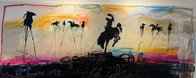 Michael Gorman, 'Riders On The Storm', 2021, Painting, Mixed media on canvas, Axiom Contemporary
