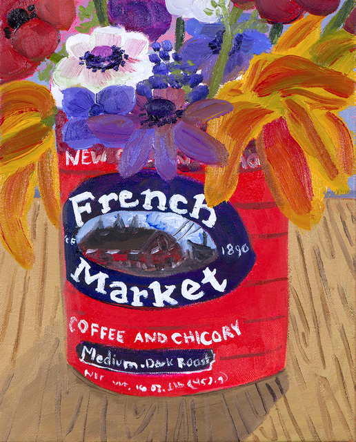 , 'Garden Flowers in French Market Can,' 2017, Hashimoto Contemporary