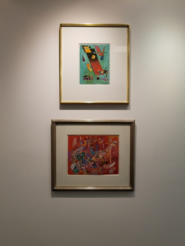 From top: Rolph Scarlett, Untitled c. 1940, gouache on paper,