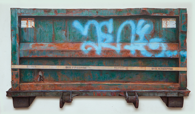 Dan Witz, 'Container Maspeth II', 2016, Mixed Media, Oil on sintra, wood back frame, McCaig-Welles