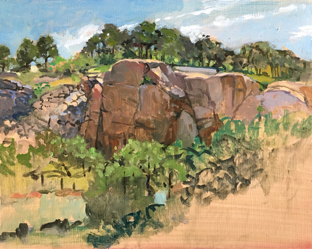 , 'Old Quarry, Folly Point, Gloucester,' 2015-2019, Copley Society of Art