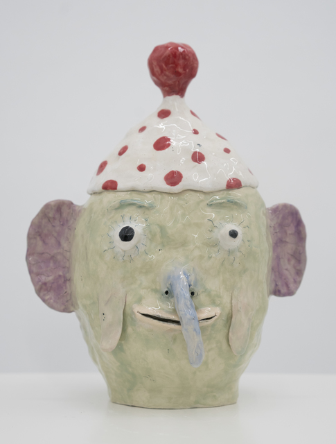 , 'Green Head with Red Dots on Hat,' 2017, Ruttkowski;68