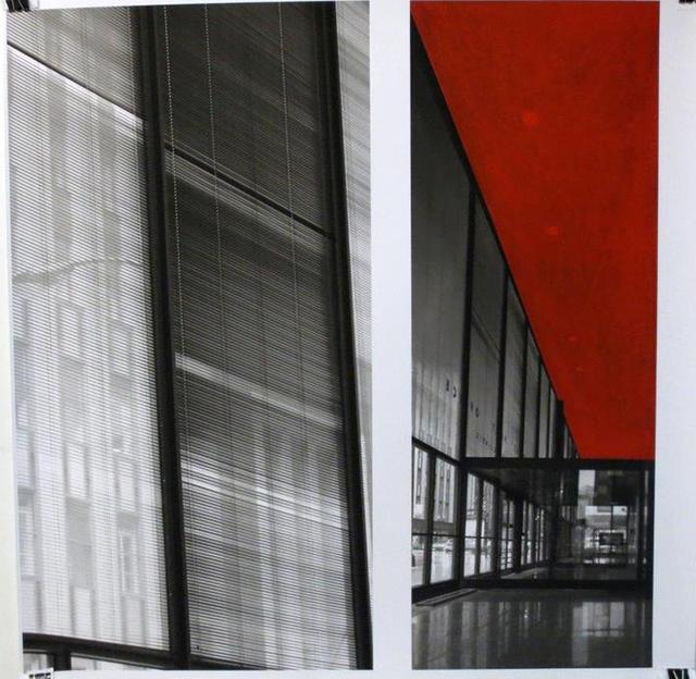 , 'Mies Drawing (Red),' 2014, Galería Hilario Galguera