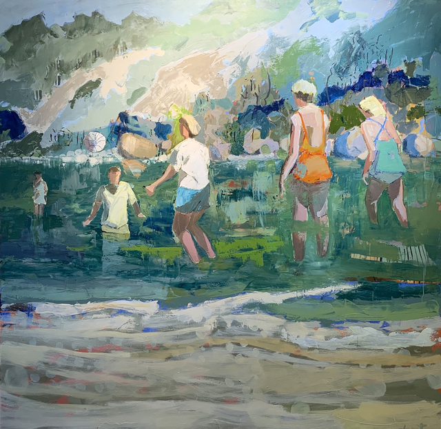 Linda Christensen, 'Family Reunion', 2021, Painting, Oil on canvas, Gail Severn Gallery