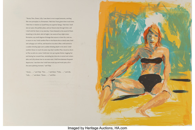 Eric Fischl, 'Annie, Gwen, Lily, Pam, and Tulip (bikini girl with text)', 1986, Heritage Auctions