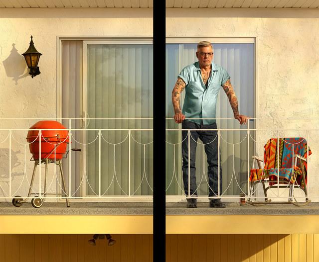 , 'Tattooed Man on Balcony,' 2018, 303 Gallery