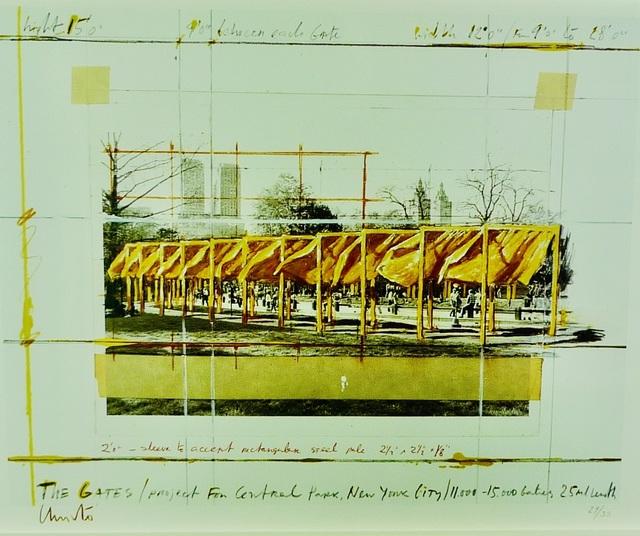 Christo, 'The Gates', 1994, Print, Lithograph on paper, Bengtsson Fine Art