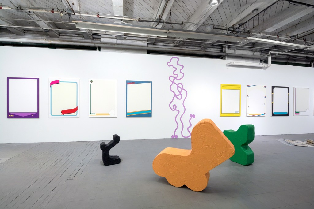 An installation view of NEW BARRACUDA at PROTO Gallery.