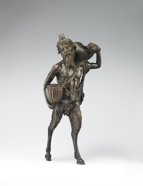 Andrea Briosco, called Riccio, 'Pan', ca. 1510–1520, Sculpture, Bronze, The Metropolitan Museum of Art