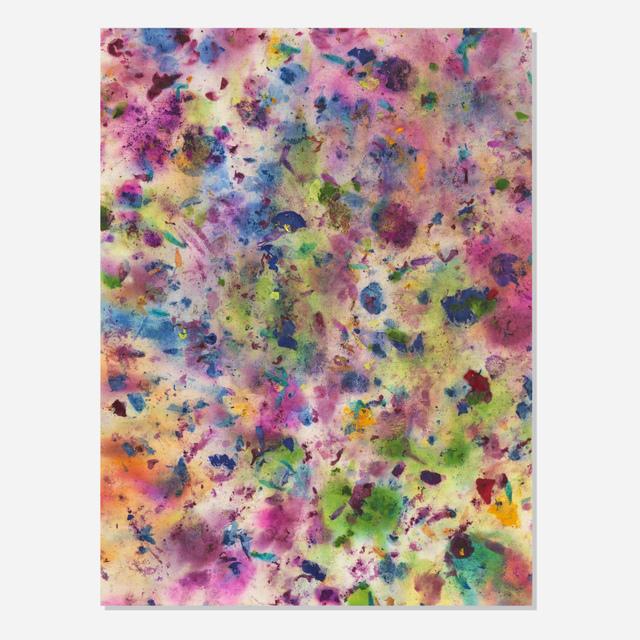Dan Colen, 'Break the Bottle', 2013, Painting, Flowers on bleached linen, Artsy x Rago/Wright