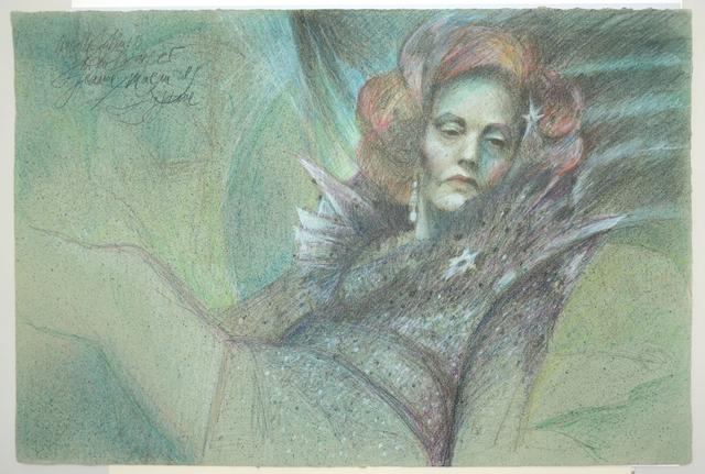 ", 'Jeanne Moreau (""Querelle""-Zyklus),' 1982, Galerie Kornfeld"
