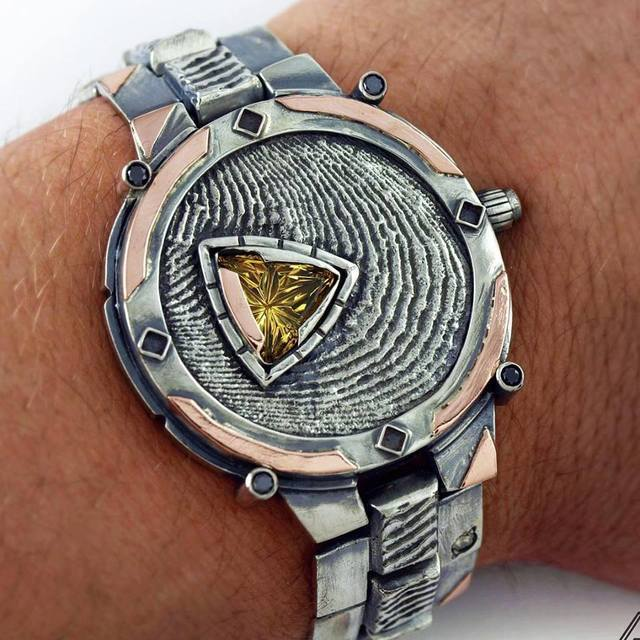 Buddy Austin, 'Timeless Watch', 2014, Jewelry, Silver and Rose Gold with Citrine, The Crown Collection
