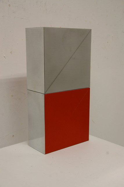 Arno Kortschot, 'Dyptich Red with Verticals', 2017, William Campbell Contemporary Art, Inc.