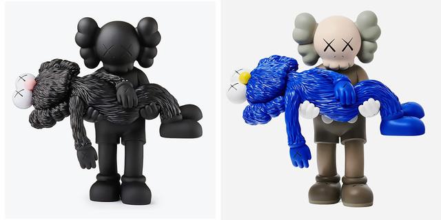 KAWS, 'KAWS GONE set of 2 (KAWS Companion)', 2019, Sculpture, Painted vinyl cast resin, Lot 180