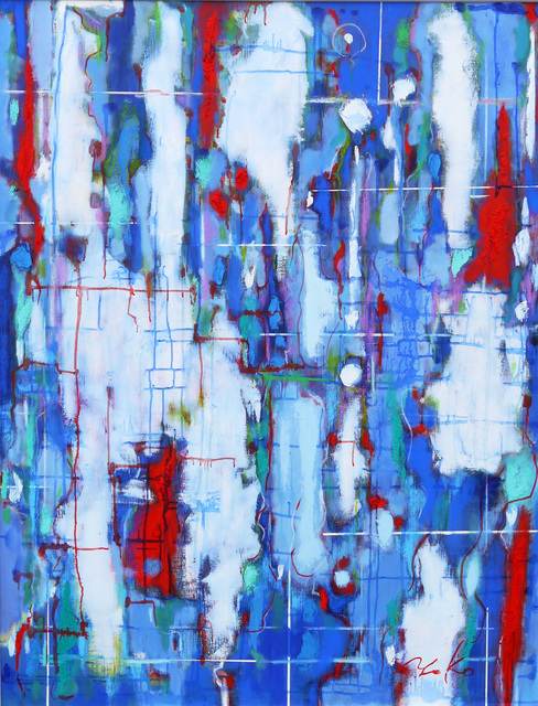 , 'Blue Conflict,' 2014, Walter Wickiser Gallery