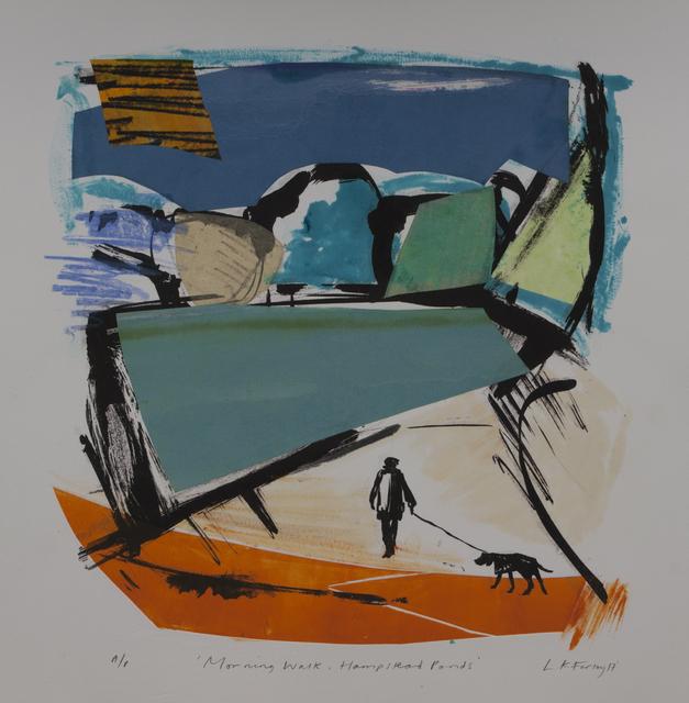 , 'Morning Walk, Hampstead Ponds,' 2017, London Print Studio