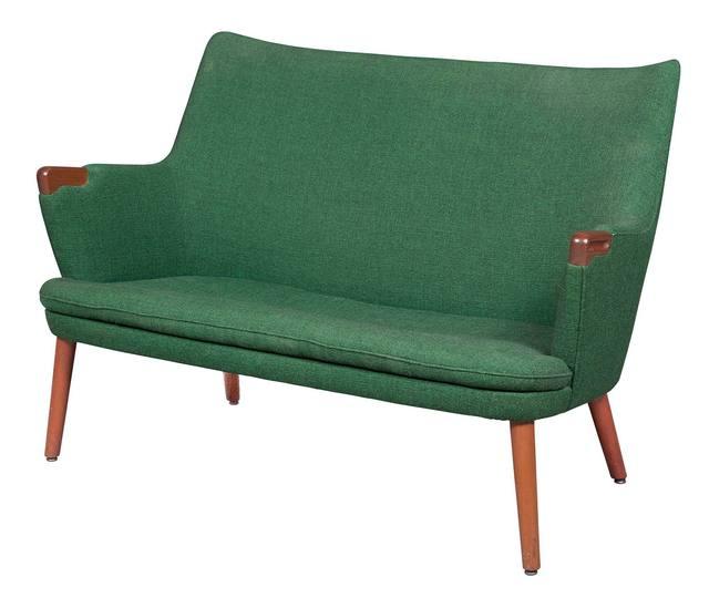 'Hans Wegner Upholstered Teak Model AP 20 Settee', Design/Decorative Art, Doyle