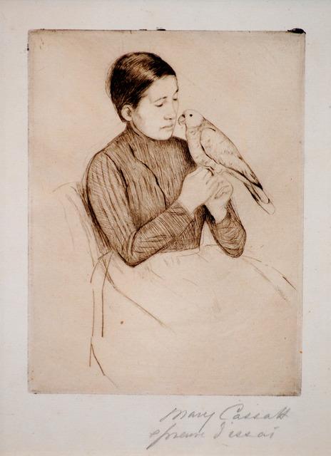Mary Cassatt, 'The Parrot', ca. 1891, Print, Drypoint, Contessa Gallery