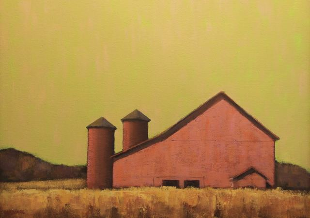 , 'Red Barn at Dawn,' 2010-2017, Eisenhauer Gallery