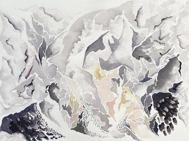 Mary Shah, 'In One Place', 2021, Painting, Watercolor on paper, Rick Wester Fine Art