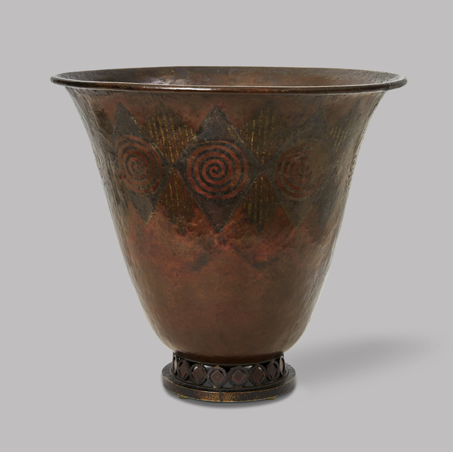 , 'Dinanderie vase in flared form,' ca. 1925, DeLorenzo Gallery