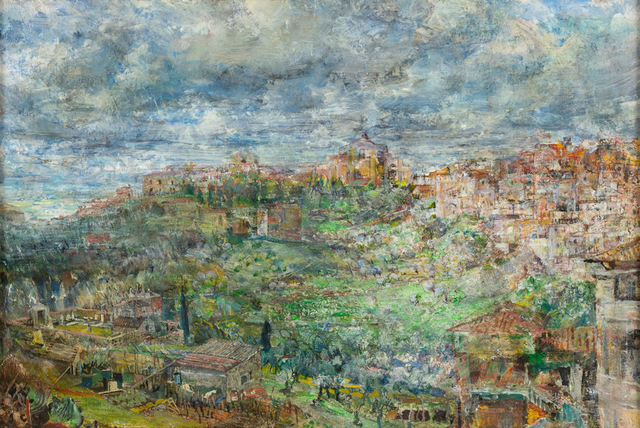 , 'View of Siena from the French Plaza,' 2018, Valley House Gallery & Sculpture Garden