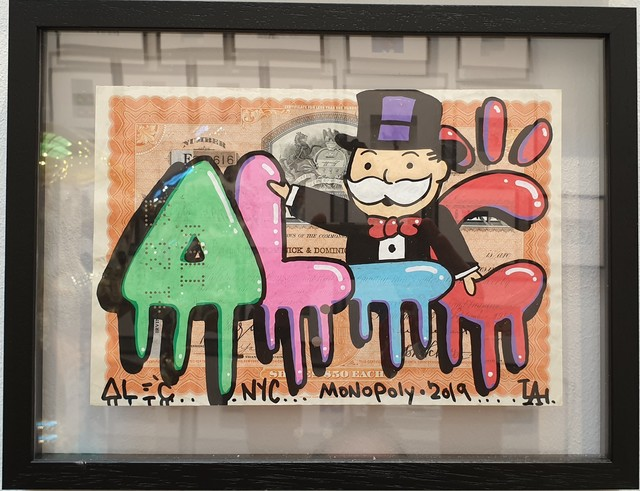 Alec Monopoly, 'ALEC graffiti with Monopoly on share', 2019, Eden Fine Art