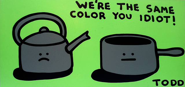 , 'Pot Calling the Kettle Black,' , The Ross Art Group Inc.