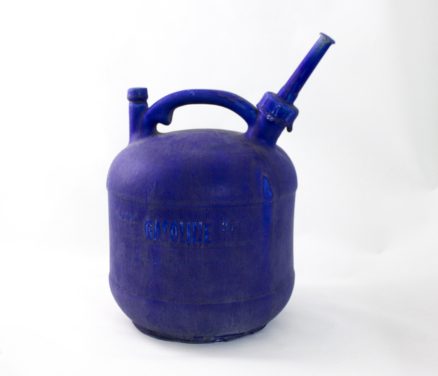 Matthias Merkel Hess, 'Eagle 2 1/2 Gallon Gas Can', 2015, Sculpture, Glazed porcelain (blue), Ochi Projects