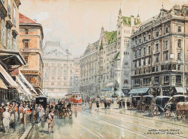 , 'The New Market in Vienna,' ca. 1920, Galerie Kovacek & Zetter