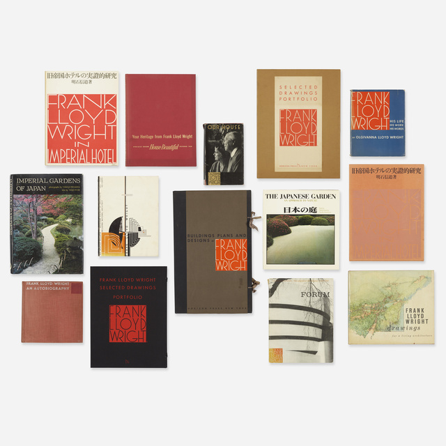 'Frank Lloyd Wright monographs and other titles', 1943-1977, Books and Portfolios, Printed pages, Rago/Wright