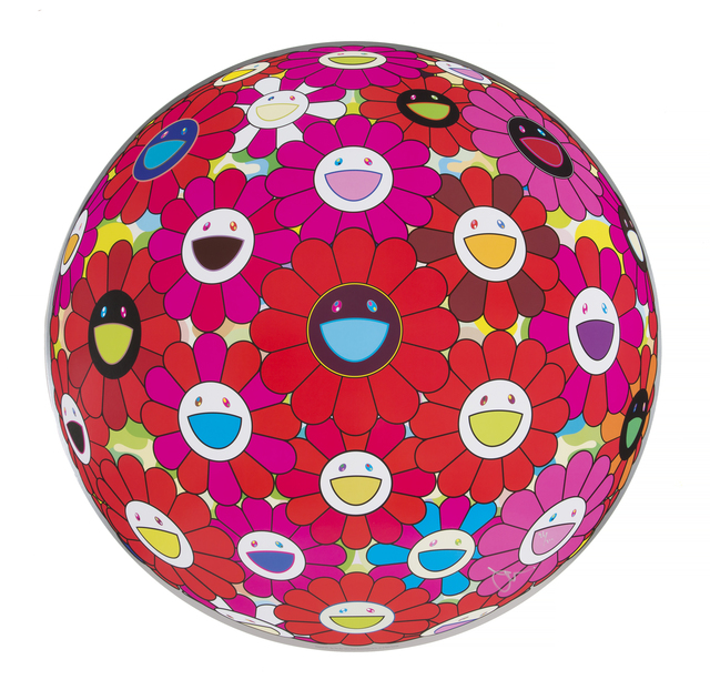 Takashi Murakami, 'Flowerball (3D) - Red, Pink, Blue', 2013, Julien's Auctions