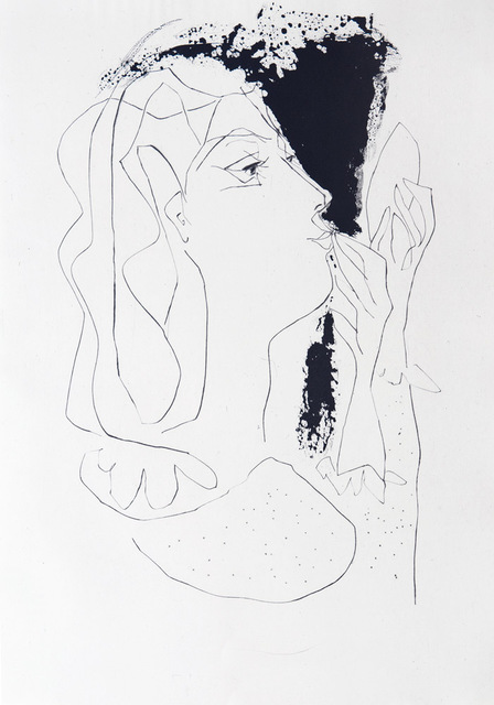 Pablo Picasso, 'A woman looking at herself in a mirror', 1948, Print, Etching, Goldmark Gallery