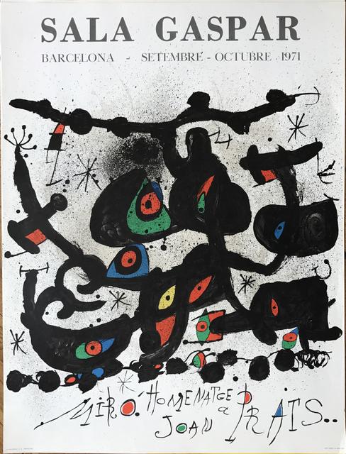""", 'Affiche pour l' exposition """"Homenatge a Joan Prats"""". Sala Gaspar, Barcelona. ,' 1971, Fairhead Fine Art Limited"""