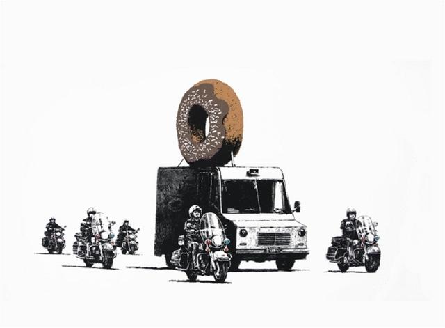 Banksy, 'Donuts (Chocolate)', 2009, Taglialatella Galleries