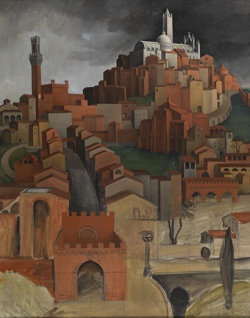 Sture Lundberg, 'View of Siena from the Porta Ovile', ca. 1922, Painting, Oil on canvas, Day & Faber