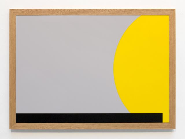 , 'acrylic, frame: oiled oak, 90 x 125 x 5 cm,' 2014, Georg Kargl Fine Arts
