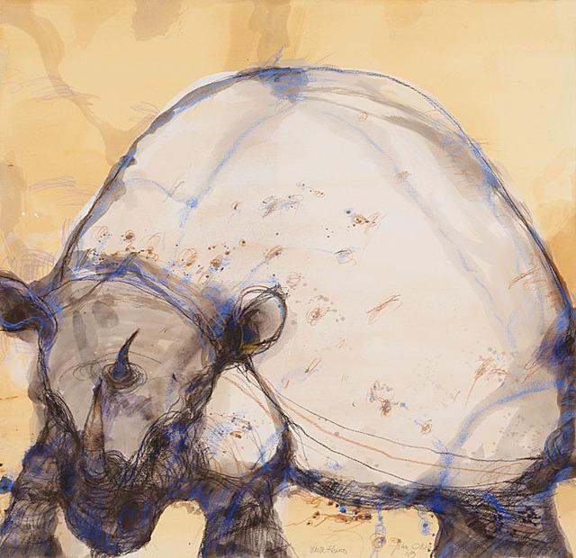 , 'White Rhino,' 2013, Metro Gallery