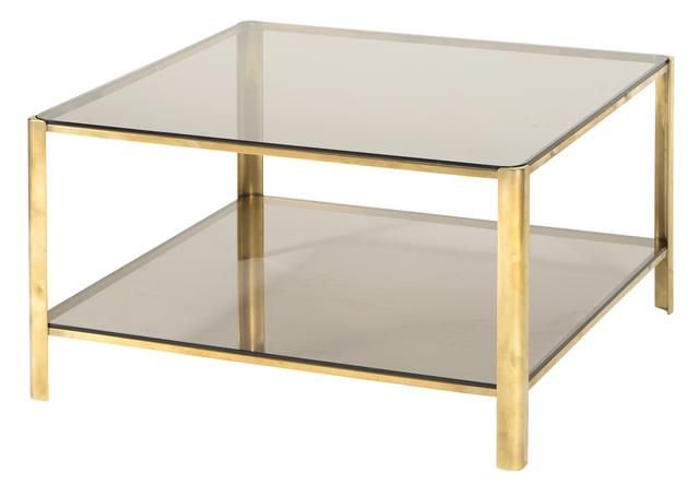 'Jacques Quinet Smokey Glass and Gilt Bronze Low Table', Design/Decorative Art, Doyle